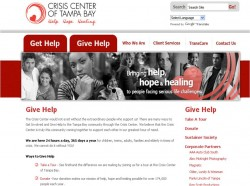 Crisis Center of Tampa Bay's Web Site