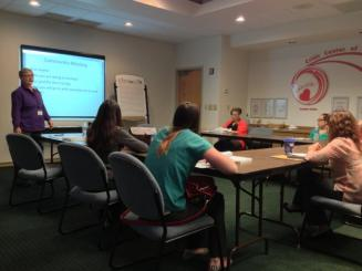 Crisis Center staff & volunteers at a Trauma Informed Care training.